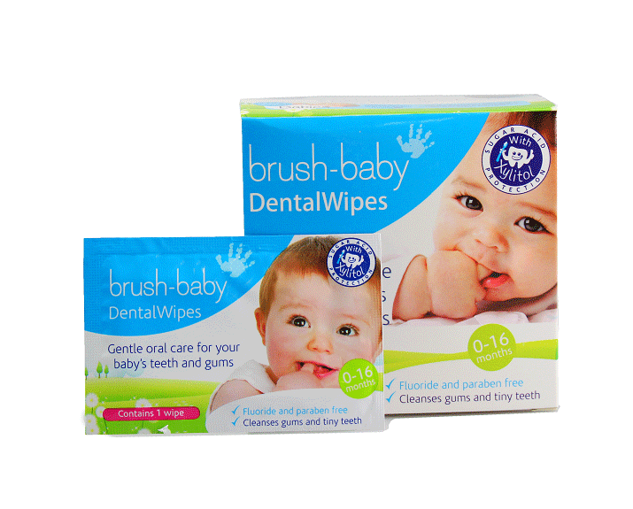 Brush-Baby Dental Wipes chusteczki do mycia dziąseł z ksylitolem